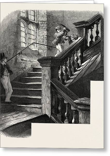 Eton, Staircase To The Upper School, Uk, Britain Greeting Card by English School