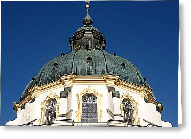 Ettal Abbey Bavaria Greeting Card by The Creative Minds Art and Photography