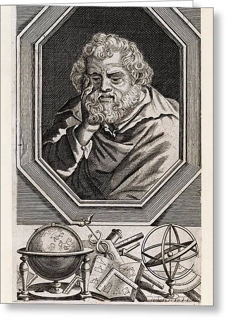 Euclid  Mathematician Of Alexandria Greeting Card by Mary Evans Picture Library