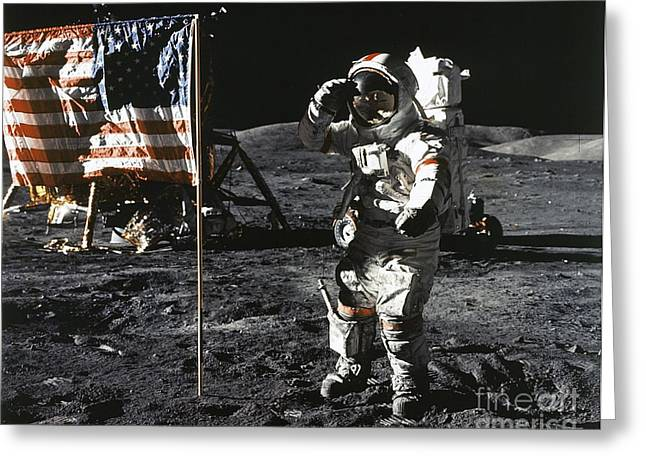 Eugene Cernan, Apollo 17, 1972 Greeting Card