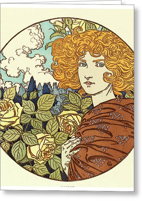 Eugene Grasset, Jalousie Jealousy, French Greeting Card