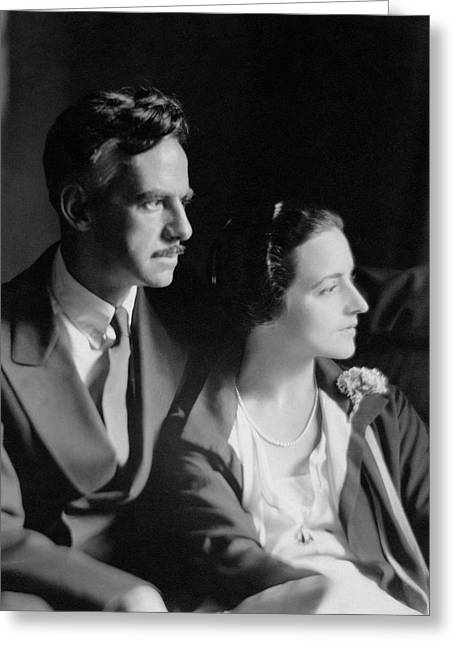 Eugene O'neill And His Wife Carlotta Monterey Greeting Card by Ben Pinchot