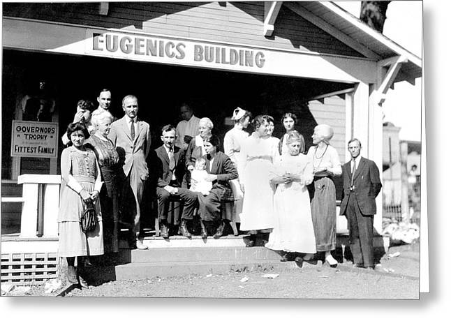 Eugenics Contest At Public Fair Greeting Card