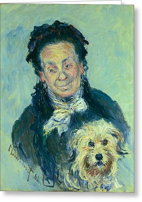 Eugenie Graff - Madame Paul Greeting Card by Claude Monet