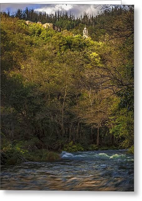 Greeting Card featuring the photograph Eume River Galicia Spain by Pablo Avanzini