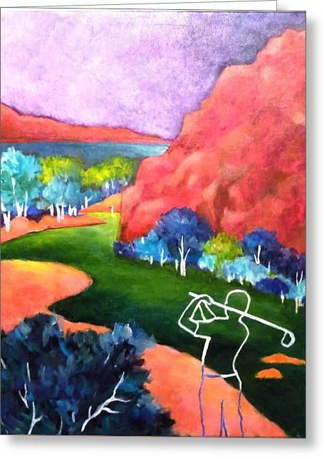 Euphoria - Golf Series Greeting Card by Betty M M   Wong