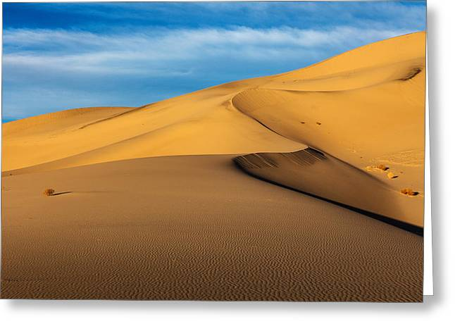 Eureka Dunes Greeting Card by James Marvin Phelps