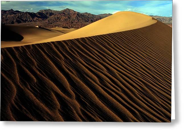 Eureka Sand Dunes Greeting Card by Kenan Sipilovic