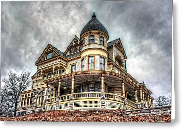 Eureka Springs Victorian Greeting Card by Corey Cassaw