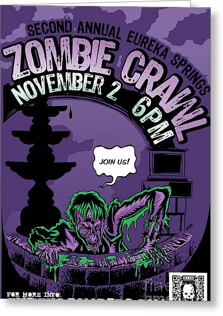 Eureka Springs Zombie Crawl 2013 Greeting Card