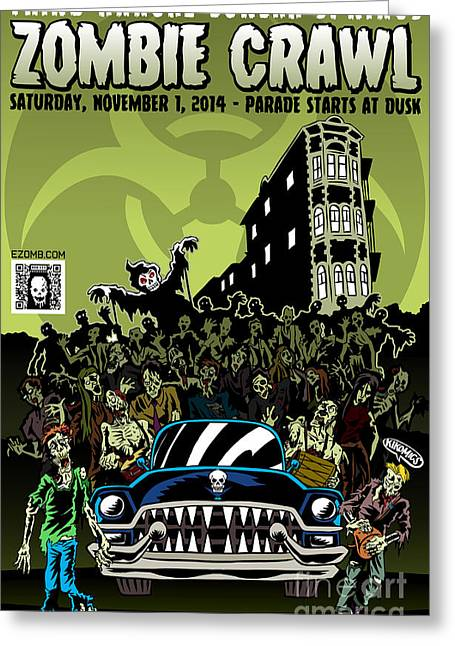 Eureka Springs Zombie Crawl 2014 Greeting Card