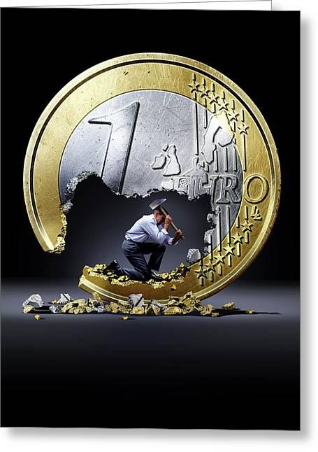 Euro Crisis Greeting Card by Smetek