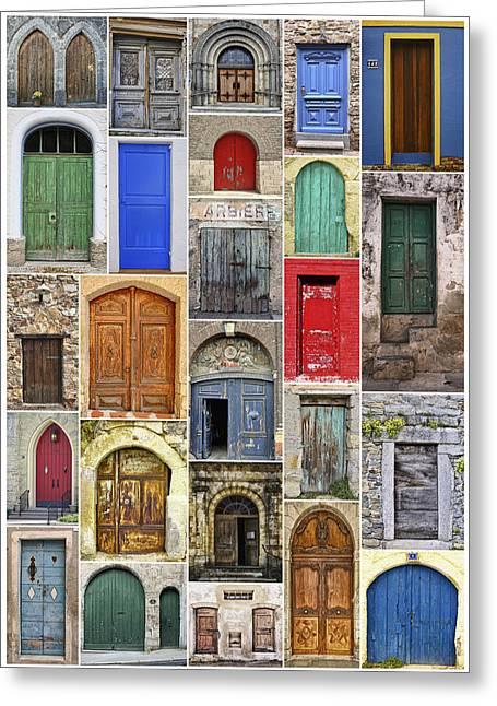 Euro Door Panel Greeting Card