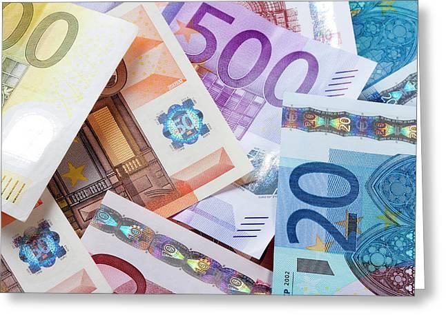 Euro - European Union Banknotes Greeting Card
