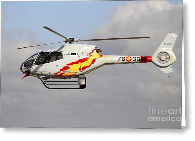 Eurocopter Ec120 Helicopter Greeting Card by Riccardo Niccoli