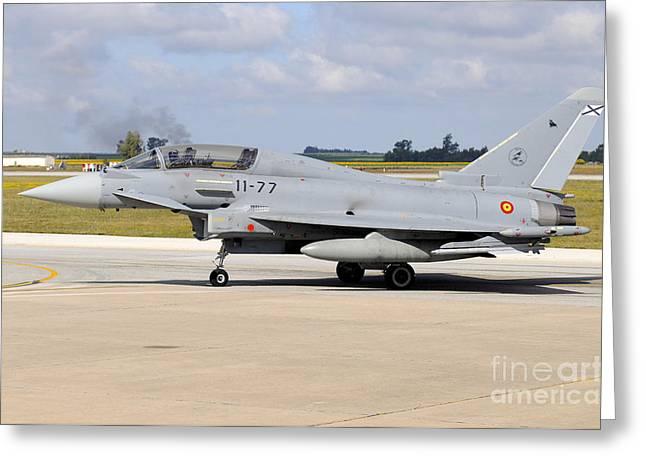 Eurofighter Ef2000 Typhoon Greeting Card by Riccardo Niccoli