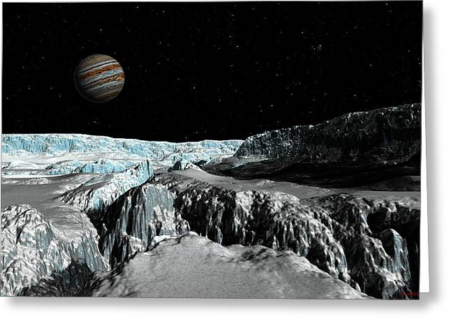 Europa's Icefield  Part 2 Greeting Card