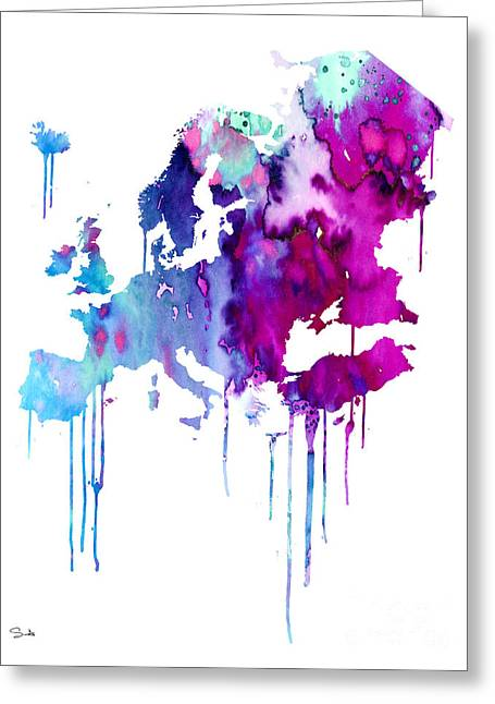 Europe 2 Greeting Card by Watercolor Girl