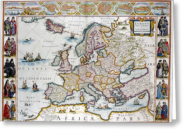 Europe Greeting Card by British Library
