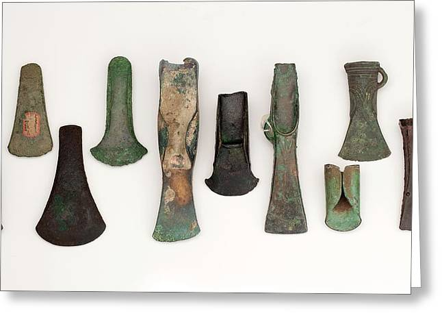 Europe Bronze Age Axes From Early To Late Greeting Card by Paul D Stewart