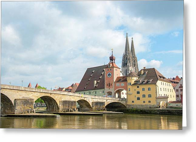 Europe, Germany, Bavaria, Regensberg Greeting Card by Jim Engelbrecht