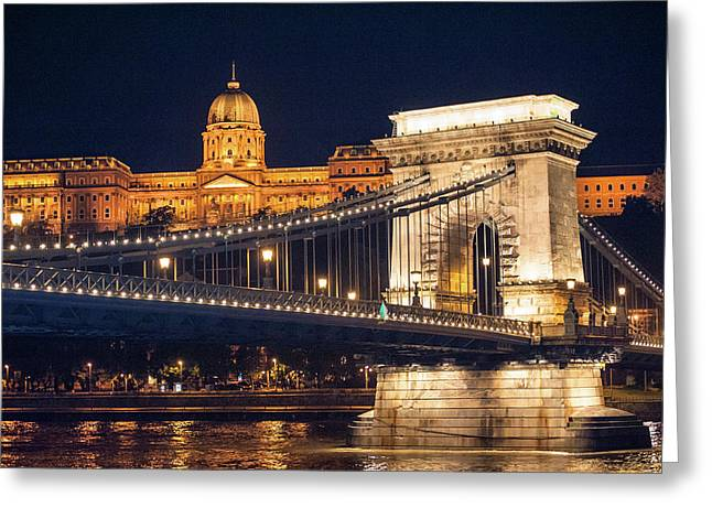 Europe, Hungary, Budapest, Chain Greeting Card