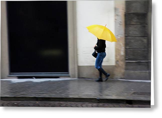 Europe Italy Florence Woman Walking Greeting Card