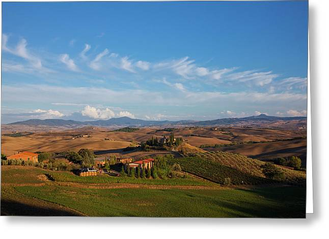 Europe, Italy, Tuscany, San Quirico Greeting Card
