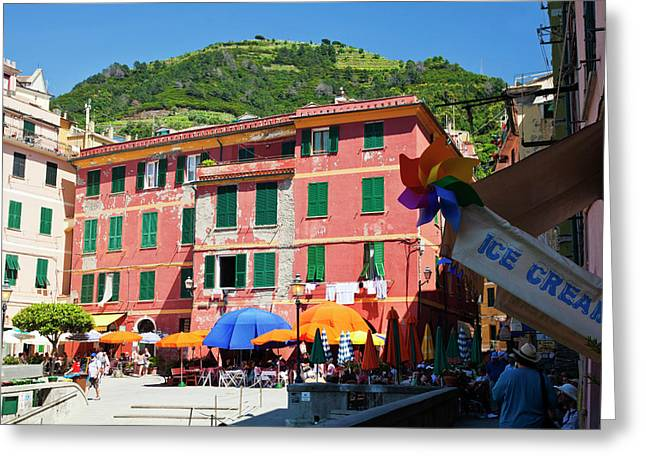 Europe Italy Vernazza Greeting Card by Terry Eggers