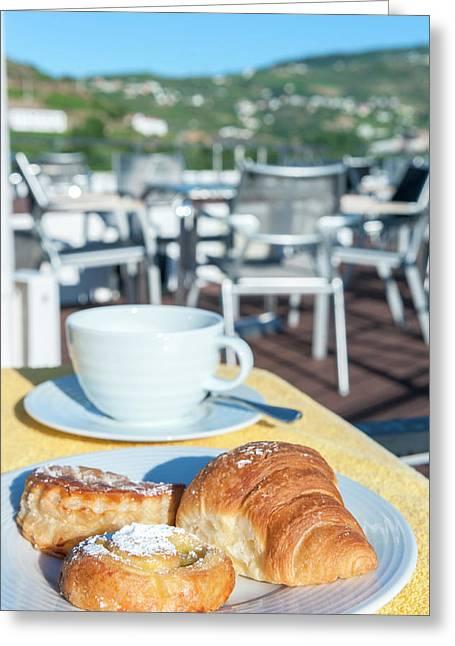 Europe, Portugal, Regua, Breakfast Greeting Card