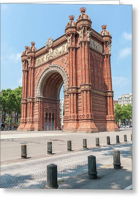 Europe, Spain, Barcelona, Arc De Triomf Greeting Card by Lisa S. Engelbrecht