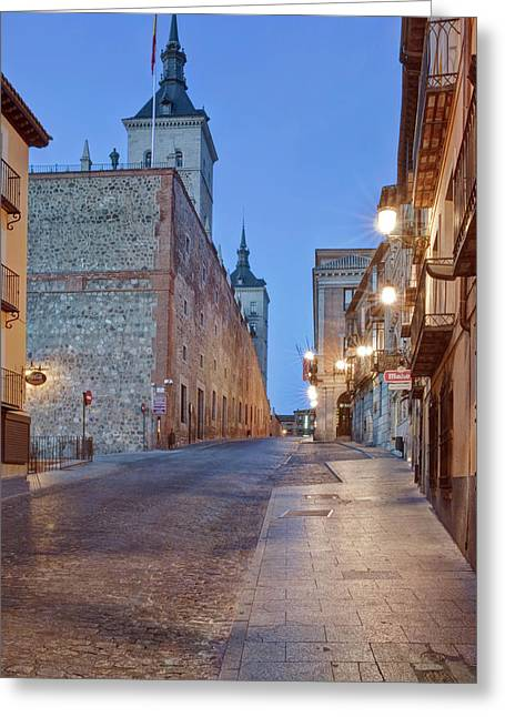 Europe, Spain, Toledo, Alcazar Greeting Card by Rob Tilley