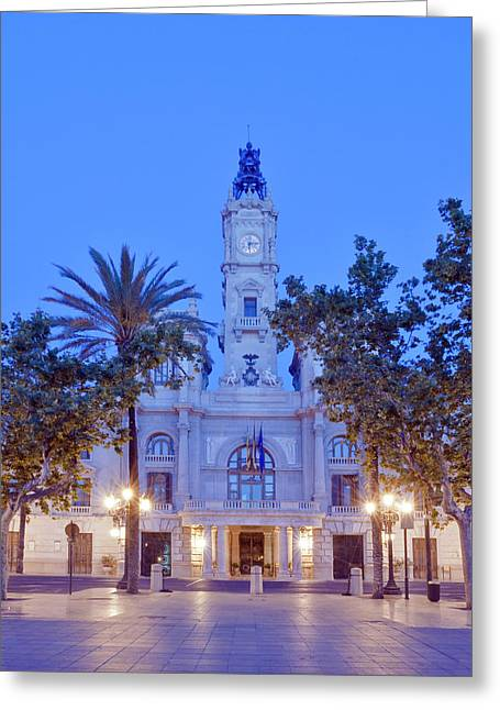 Europe, Spain, Valencia, City Hall Greeting Card