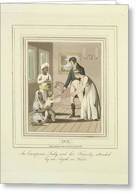 European Family Attended Greeting Card by British Library