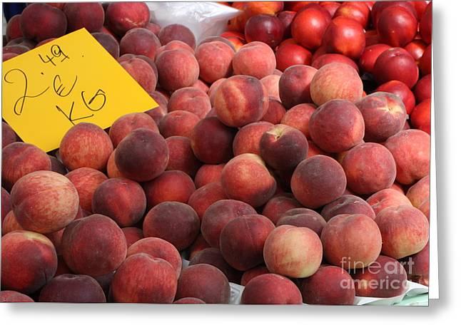 European Markets - Peaches And Nectarines Greeting Card