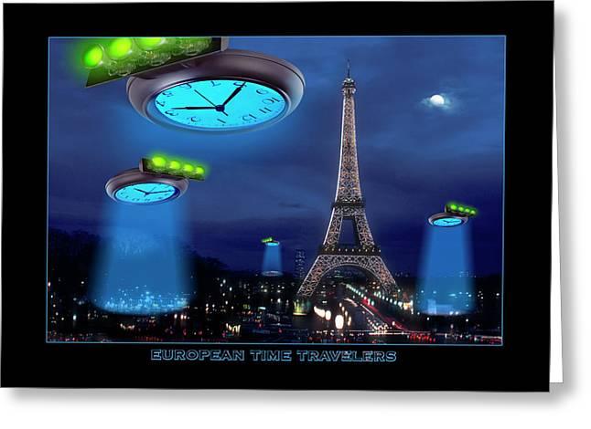 European Time Traveler Greeting Card