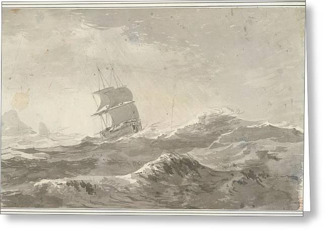 European Vessel Under Sail Greeting Card