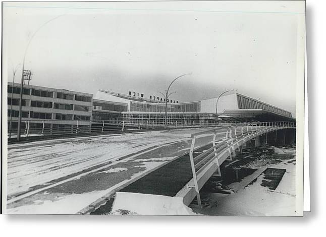 Europes  Most Modern Airport - Under Construction. Vienna Greeting Card by Retro Images Archive