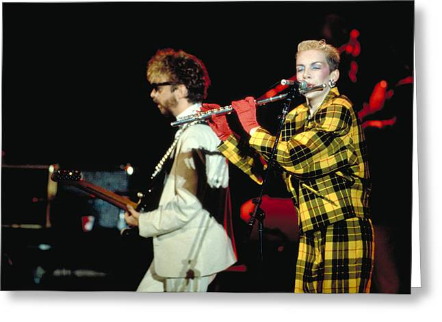 Eurythmics Greeting Card by Chris Deutsch