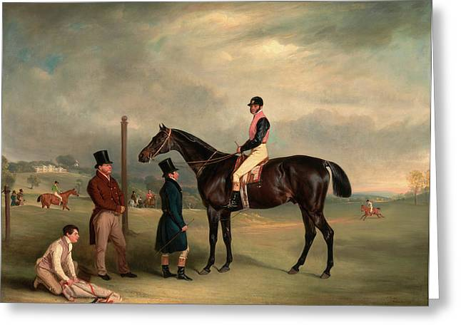 Euxton, With John White Up, At Heaton Park Buxton With John Greeting Card by Litz Collection