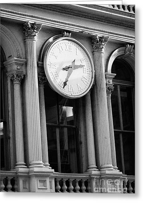 E.v. Haughwout Building With Its Clock And Cast Iron Facade On Broadway In Soho New York Greeting Card by Joe Fox