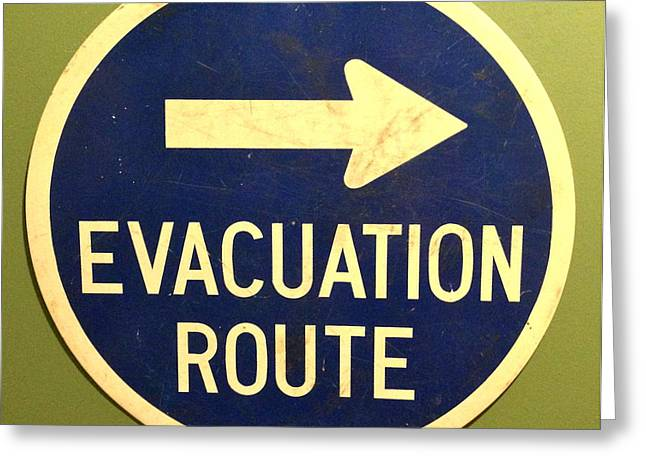 Evacuation Route Greeting Card by M West