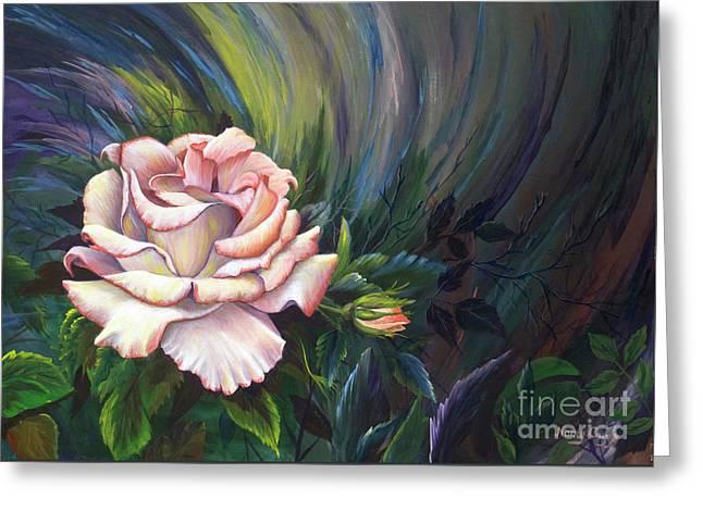 Greeting Card featuring the painting Evangel Of Hope by Nancy Cupp