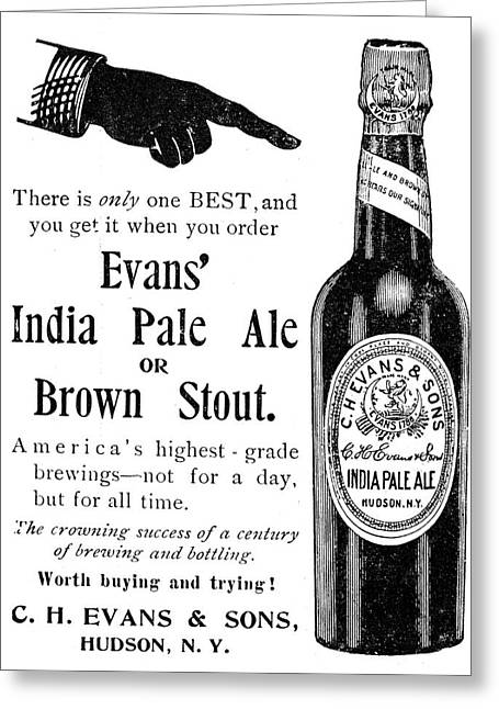 Evans India Pale Ale, 1895 Greeting Card by Granger