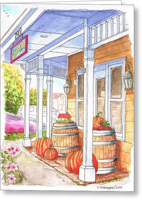 Evan's Ranch Testing Room In Los Olivos - California Greeting Card