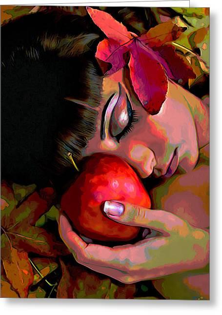 Eve Greeting Card by  Fli Art