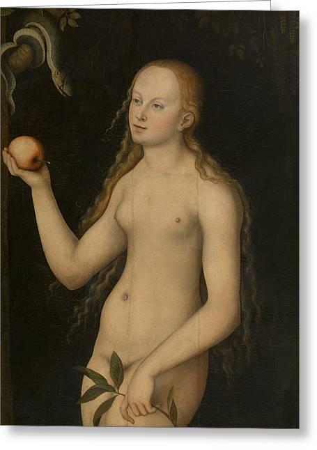 Eve Greeting Card by Lucas Cranach