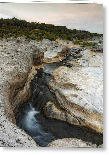 Even Flow At The Pedernales Texas Hill Country Greeting Card by Silvio Ligutti