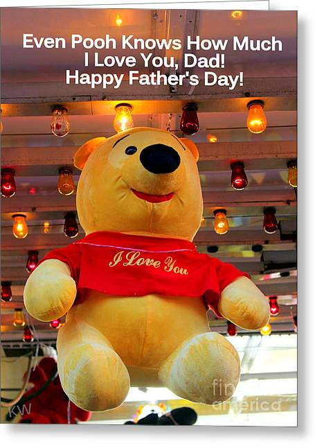 Even Pooh Knows Card Greeting Card