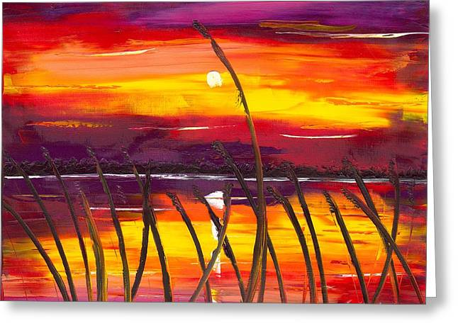 Evening At Lake Butler Greeting Card by Jessilyn Park